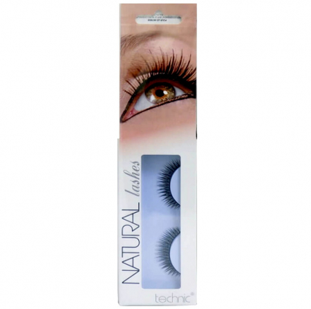 Gene False cu Aspect Natural TECHNIC Natural Lashes, adeziv inclus BC14
