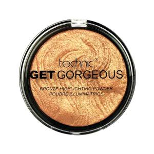 Iluminator cu particule aurii Technic Get Gorgeous Highlighting Powder - 24CT-Gold, 12g