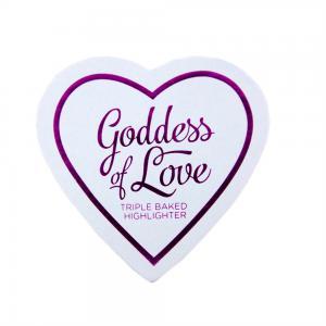 Iluminator Makeup Revolution I Heart Makeup Blushing Hearts Baked Highlighter - Golden Goddess, 10g1