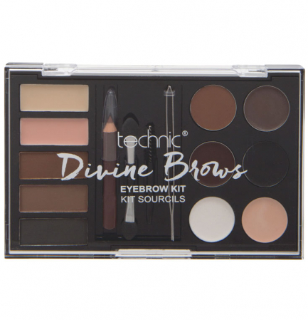 Kit complet pentru sprancene TECHNIC DIVINE Brows, Eyebrow Kit