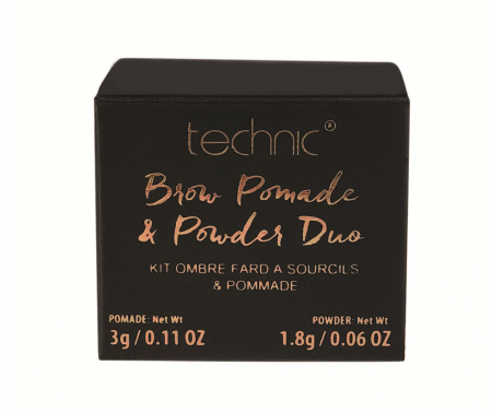 Kit pentru sprancene TECHNIC Brow Pomade & Powder Duo, Medium, 3 g + 1.8 g1