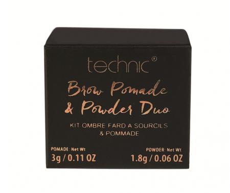 Kit pentru sprancene TECHNIC Brow Pomade & Powder Duo, Dark, 3 g + 1.8 g1