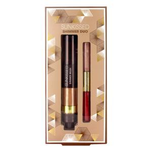 Kit Pentru Bronz, Iluminare Si Stralucire Sunkissed Shimmer Duo