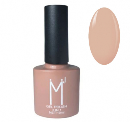 Oja semipermanenta 3 in 1, MJ Gel Polish, Nuanta 065, Nude Choco, 10 ml