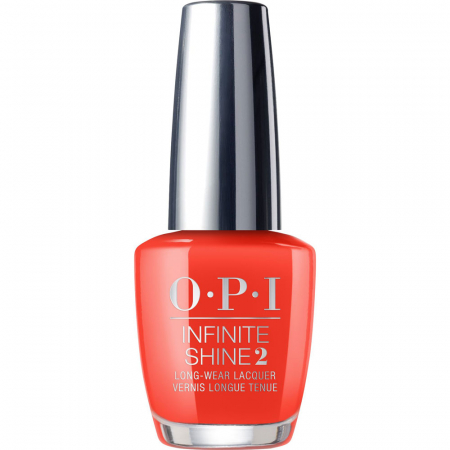 Lac de unghii OPI Infinity Shine 2 Lisbon Collection A Red-vival City, 15 ml