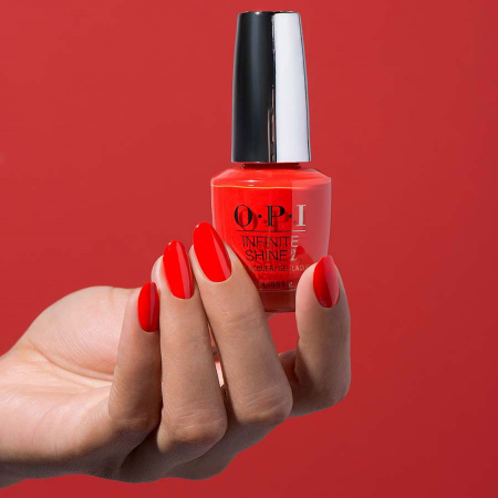 Lac de unghii OPI Infinity Shine 2 Lisbon Collection A Red-vival City, 15 ml2