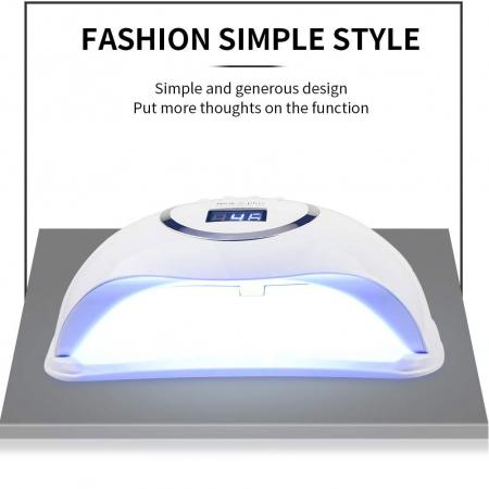 Lampa profesionala unghii UV LED Smart 2.0 NEW5plus, 72 W, Activare prin senzori,Uscare 10s-99s, pentru uscat oja semipermanenta sau gel UV6
