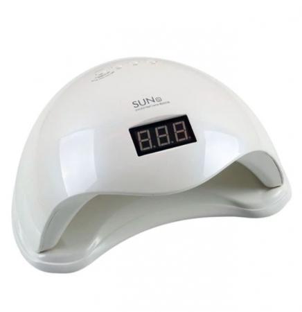 Lampa profesionala unghii UV LED SUN5, Activare prin senzori, 48 W,Uscare 10s-99s, pentru uscat oja semipermanenta sau gel UV9