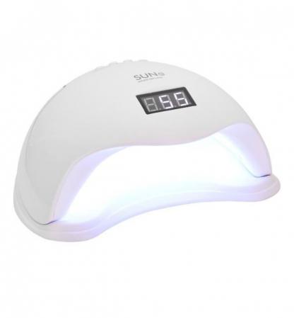 Lampa profesionala unghii UV LED SUN5, Activare prin senzori, 48 W,Uscare 10s-99s, pentru uscat oja semipermanenta sau gel UV