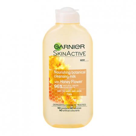 Lapte demachiant 96% Ingrediente Naturale, Garnier Skin Active Botanical, Honey Flower, Ten Uscat, 200 ml