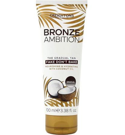 Crema Autobronzanta Pentru Bronzare Graduala CREIGHTONS Bronze Ambition Fake Don't Bake cu Ulei de Cocos, 100 ml