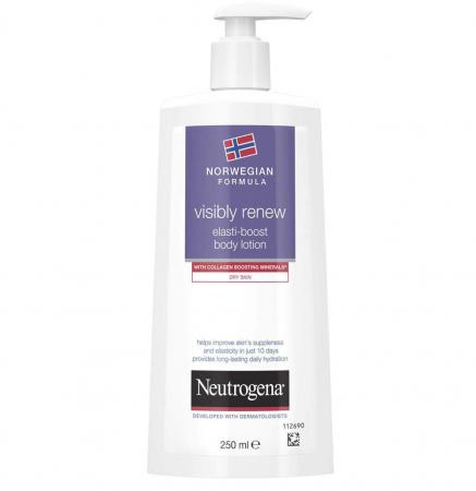 Lotiune de corp cu colagen si minerale active pentru redarea elasticitatii pielii, Neutrogena Visibly Renew Elasti-Boost, 250 ml