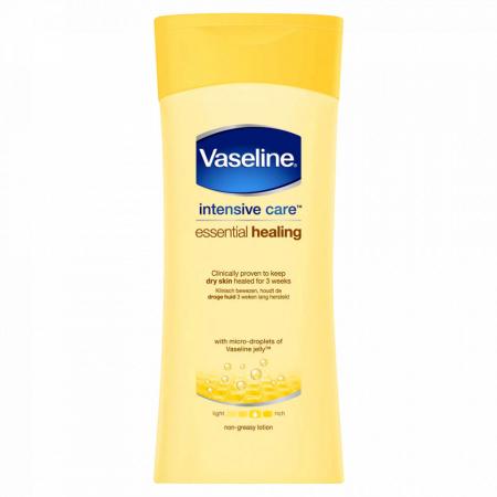 Lotiune de corp pentru piele uscata si sensibila Vaseline Intensive Care Essential Healing, 400 ml