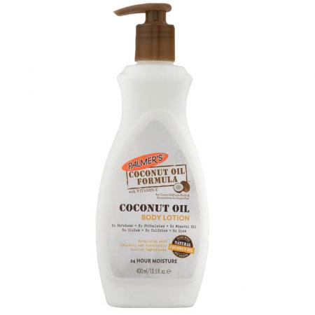 Lotiune de corp cu Ulei de Cocos Raw, PALMER'S Coconut Oil Formula, Vitamina E, Hidratare 24h, 400 ml