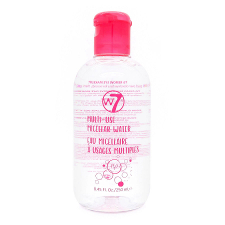 Apa micelara pentru tenul sensibil W7 Multi-Use Micellar Water, 250 ml