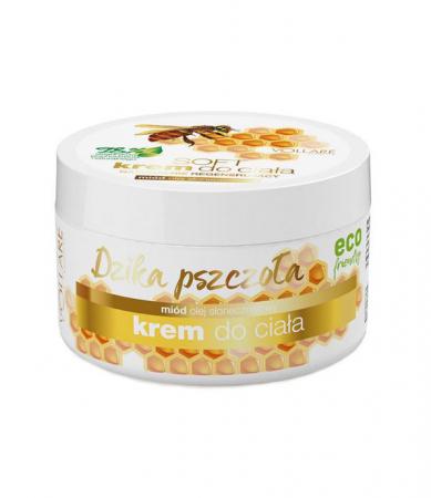 Crema regeneratoare pentru corp, Albina Salbatica, 98% Ingrediente Naturale, VOLLARE cu miere si ulei de floarea soarelui, 225 ml