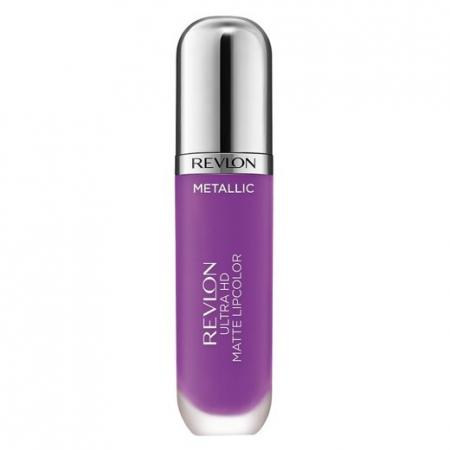 Luciu de buze mat Revlon Ultra HD Metallic Matte Lip Color HD, 710 Dazzle0