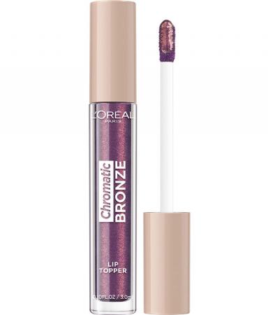 Luciu de Buze Metalizat L'Oreal Paris Chromatic Bronze Lip Topper, 03 Purple Fizz, 3 ml0