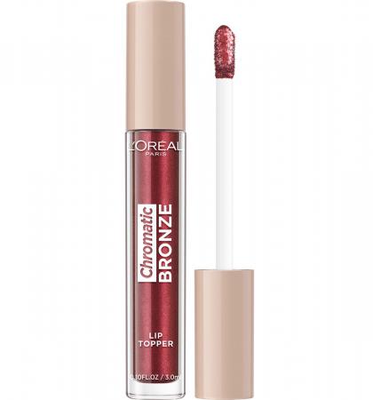 Luciu de Buze Metalizat L'Oreal Paris Chromatic Bronze Lip Topper, 04 Red Tonic, 3 ml
