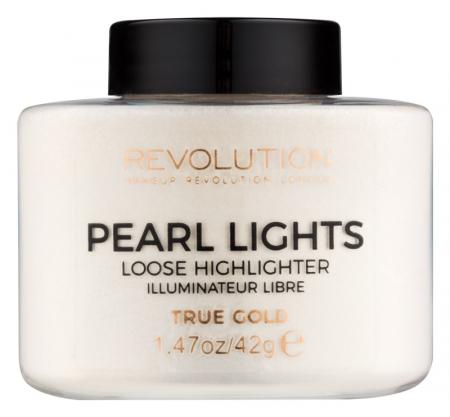 Iluminator Pulbere MAKEUP REVOLUTION Pearl Lights Loose Highlighter - True Gold, 25 g0