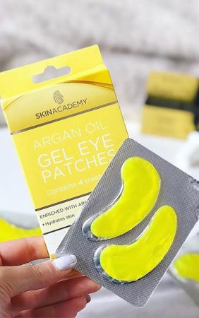 Set Plasturi Tratament pentru ochicu Ulei de Argan SKIN ACADEMY Gel Eye Patches, 4 seturi (8 plasturi)6