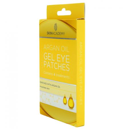 Set Plasturi Tratament pentru ochicu Ulei de Argan SKIN ACADEMY Gel Eye Patches, 4 seturi (8 plasturi)5