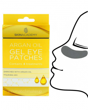 Set Plasturi Tratament pentru ochicu Ulei de Argan SKIN ACADEMY Gel Eye Patches, 4 seturi (8 plasturi)3