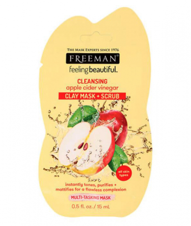 Masca de curatare multifunctionala FREEMAN Cleansing Apple Cider Vinegar Clay Mask, 15 ml