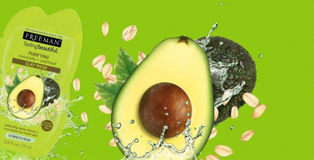 Masca hranitoare si purificatoare FREEMAN Purifying Avocado + Oatmeal Clay Mask, 15 ml1