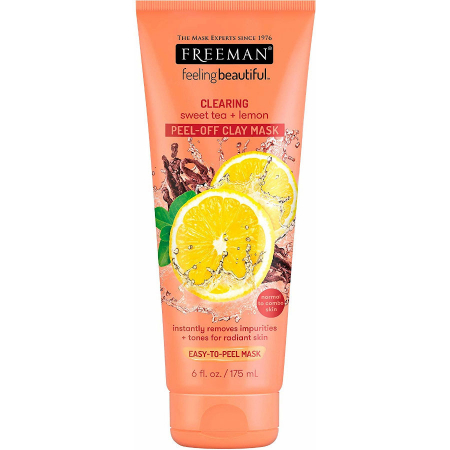 Masca de curatare antioxidanta FREEMAN Clearing Sweet Tea + Lemon Clay Mask, 175 ml