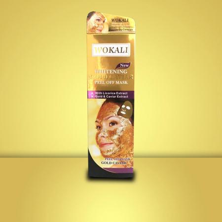 Masca de fata cu Caviar, Particule de Aur 24K si Colagen, Efect Intinerire si Anti Sebum, Wokali Gold Caviar Whitening, 130 ml4