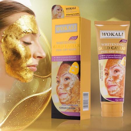 Masca de fata cu Caviar, Particule de Aur 24K si Colagen, Efect Intinerire si Anti Sebum, Wokali Gold Caviar Whitening, 130 ml3