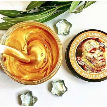 Masca de fata exfolianta cu Melc, Aur 24K si Colagen, Efect anti-rid, Wokali Snail Gold Collagen Whitening, 300 g2