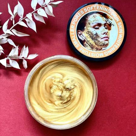 Masca de fata exfolianta cu Melc, Aur 24K si Colagen, Efect anti-rid, Wokali Snail Gold Collagen Whitening, 300 g4