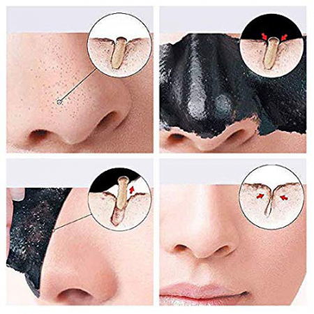 Masca neagra 3D cu carbune activ, vitamina C si colagen REVUELE Pro-Collagen, Youthful Radiance, Peel Off, 80 ml4