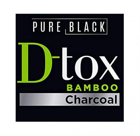 Masca de par detoxifianta cu carbune activ REVUELE Pure Black D-Tox Bamboo Charcoal, Restoring, 200 ml1