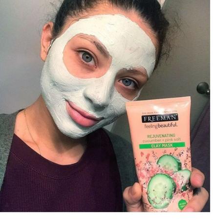 Masca detox cu efect de intinerire FREEMAN Rejuvenating Cucumber + Pink Salt Clay Mask, 175 ml4