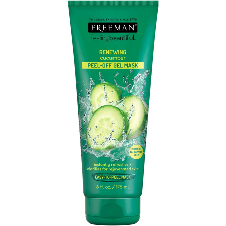 Masca exfolianta pentru ten obosit FREEMAN Renewing Cucumber Peel-Off Gel Mask, 175 ml