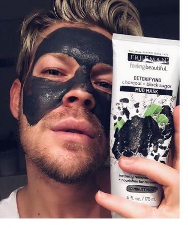 Masca detoxifianta cu carbune si zahar negru FREEMAN Detoxifying Charcoal + Black Sugar Mud Mask, 175 ml6