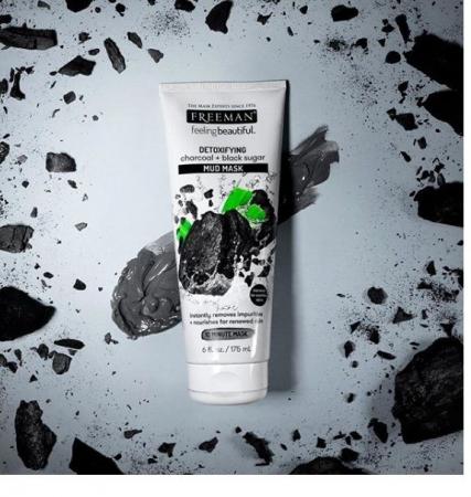 Masca detoxifianta cu carbune si zahar negru FREEMAN Detoxifying Charcoal + Black Sugar Mud Mask, 175 ml7