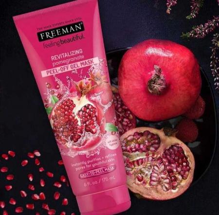 Masca exfolianta antioxidanta FREEMAN Revitalizing Pomegranate Peel-Off Gel Mask, 175 ml4