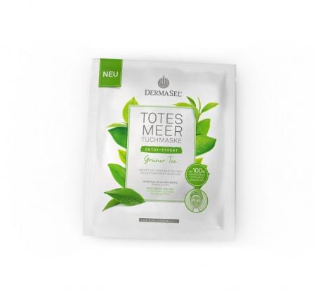Masca Dermasel din vascoza cu ceai verde si 100% minerale de la Marea Moarta