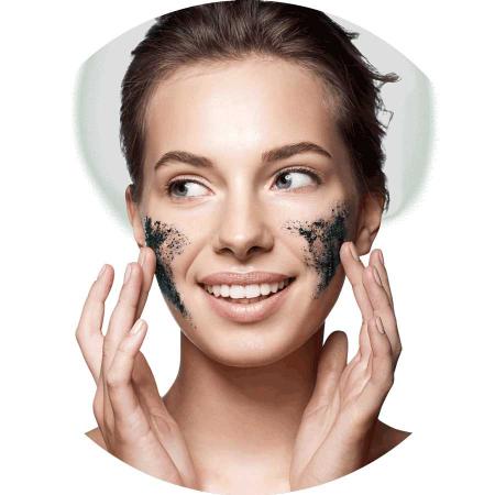 Masca exfolianta cu carbune si zahar negru FREEMAN Polishing Charcoal + Black Sugar Gel Mask,15 ml1