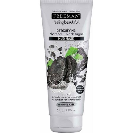 Masca detoxifianta cu carbune si zahar negru FREEMAN Detoxifying Charcoal + Black Sugar Mud Mask, 175 ml0