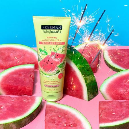 Masca exfolianta racoritoare cu Pepene si Aloe FREEMAN Gel Mask pentru tenul sensibil, efect calmant, 175 ml2