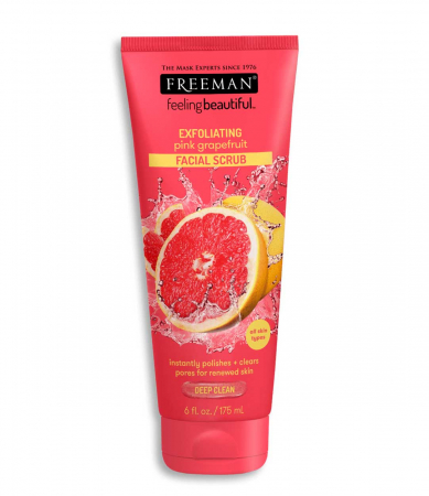 Exfoliant pentru ten tern FREEMAN Pink Grapefruit Facial Scrub, 175 ml