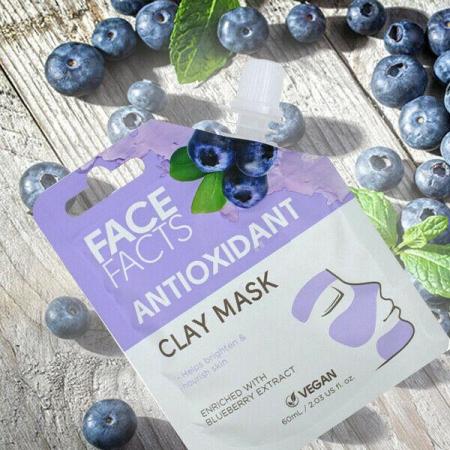 Masca Faciala Antioxidanta cu Afine FACE FACTS Clay Mask, imbogatita cu Vitamina C, 60 ml3