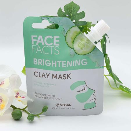 Masca Faciala cu extract de Castravete FACE FACTS Clay Mask, pentru Luminozitate si Revigorare, 60 ml2