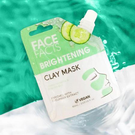 Masca Faciala cu extract de Castravete FACE FACTS Clay Mask, pentru Luminozitate si Revigorare, 60 ml1