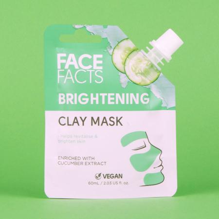Masca Faciala cu extract de Castravete FACE FACTS Clay Mask, pentru Luminozitate si Revigorare, 60 ml3